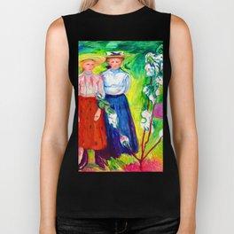 Edvard Munch Two Girls Under an Apple Tree in Bloom Biker Tank