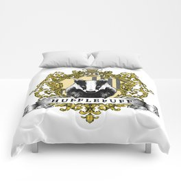 Hufflepuff Color Crest Comforters