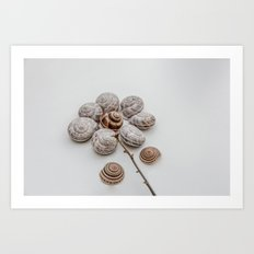 Playful snails, morning people Art Print