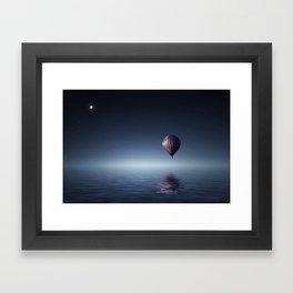 Hot Air Balloon Reflection Framed Art Print