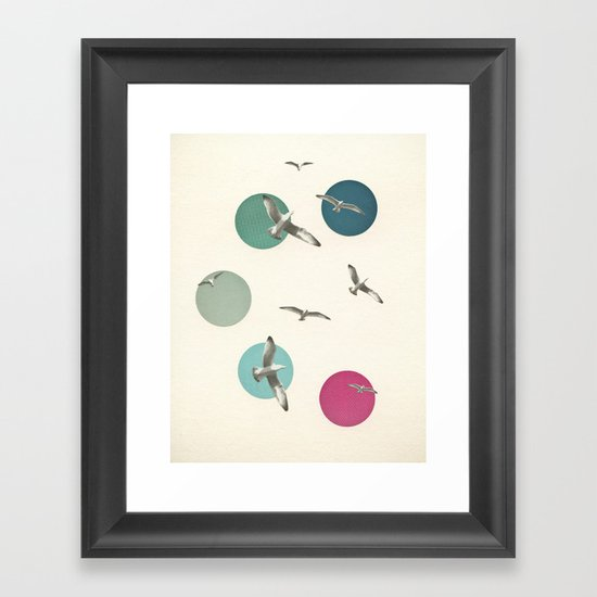 Circling Framed Art Print