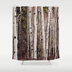 Winter Aspen Shower Curtain