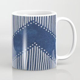 Indigo Deco Chev Coffee Mug