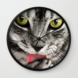 Seductive Cat (Funny) Wall Clock