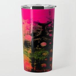 In a Pink and Black Mood Travel Mug