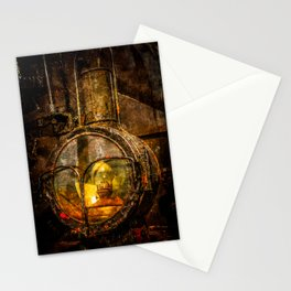 Old Train Headlight Stationery Cards