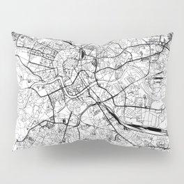 Krakow White Map Pillow Sham