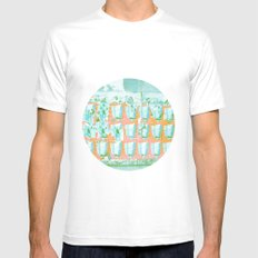 WALL PAPER NYC Mens Fitted Tee SMALL White