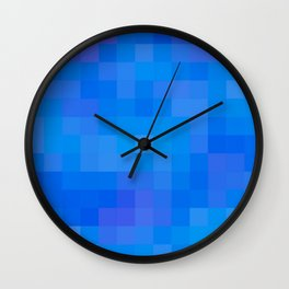 Re-Created Colored Squares No. 60 by Robert S. Lee Wall Clock