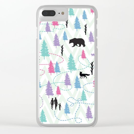 Forest Walk Clear iPhone Case