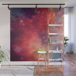 Watercolor space #4 Wall Mural