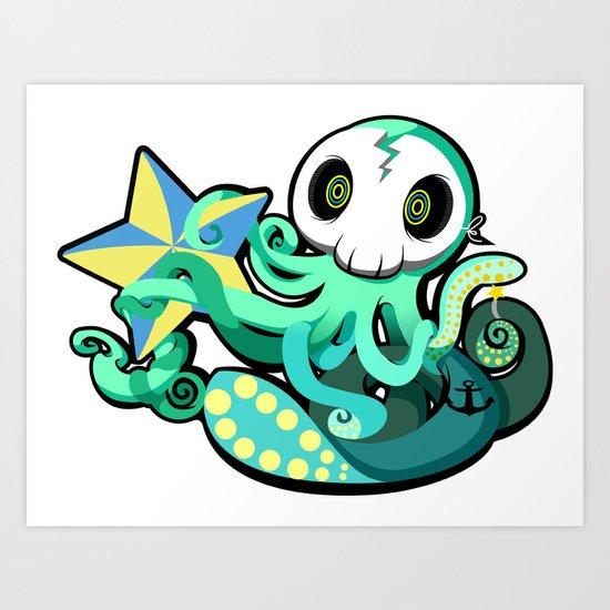Octostar Art Print