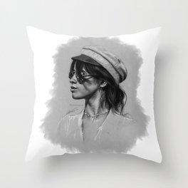 Camila Gray Sketch Throw Pillow