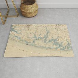 Vintage Map of Ocean City Maryland (1900) Rug