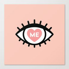 Eye Heart Me Canvas Print