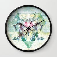 rorschach Wall Clocks featuring Rorschach by not a name