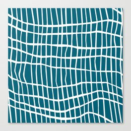 Net White on Blue Canvas Print