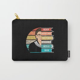 Never Underestimate The Power of A Girl With Book Carry-All Pouch