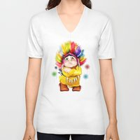 indian V-neck T-shirts featuring Indian  by tatiana-teni