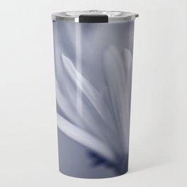 White Flower Macro Travel Mug