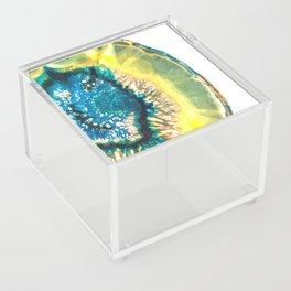 Blue and Yellow Agate Acrylic Box