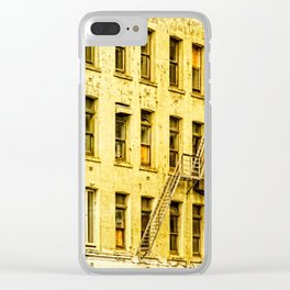 Auckland Buildings Clear iPhone Case
