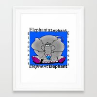 baby elephant Framed Art Prints featuring Elephant(Baby) by Vivian Fortunato