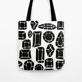 gemstone black and white Tote Bag