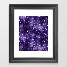 Zodiac Watercolor Ultraviolet Framed Art Print