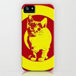 Circle red cat iPhone Case