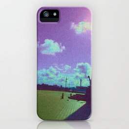 Under The Shadow - Purple iPhone Case