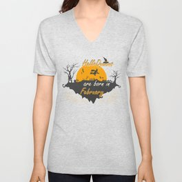 HalloQueens Are Born In February Funny Gifts Unisex V-Neck