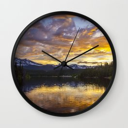 Mile High Sunset Wall Clock