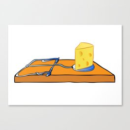 mousetrap with cheese Canvas Print