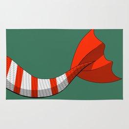 Candy Cane Mermaid Tail V2 #Christmas #Holiday Rug