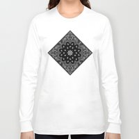 tupac Long Sleeve T-shirts featuring black and white bandana by Marta Olga Klara