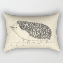 Monochrome Hedgehog Rectangular Pillow