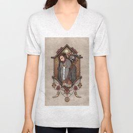 A moment of contemplation Unisex V-Neck