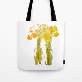 Daffodils watercolor Tote Bag