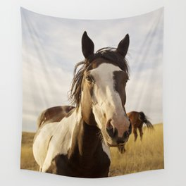 Western Paint Horse Wall Tapestry