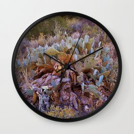 Lifecycle of Prickly Pear Cactuses Wall Clock