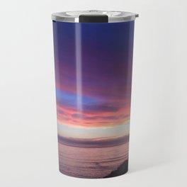 Purple and Pink Summer Beach Sunset Travel Mug