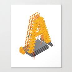 3D letter Canvas Print