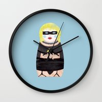 blade runner Wall Clocks featuring Pris Blade Runner by whisky milk