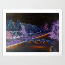Bourton at night Art Print