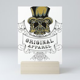 Top Hat Skull Original Apparel Mini Art Print