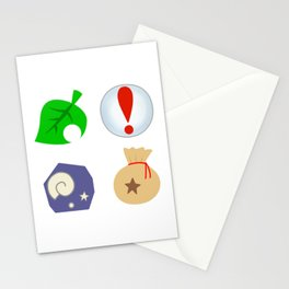 Animal Crossing Icons Stationery Cards