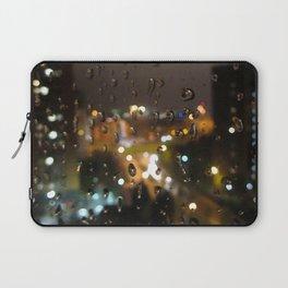 Rainy Night City Laptop Sleeve