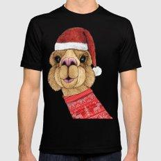 Alpaca Christmas MEDIUM Mens Fitted Tee Black
