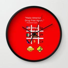 President Dick Kush's campaign slogan Wall Clock